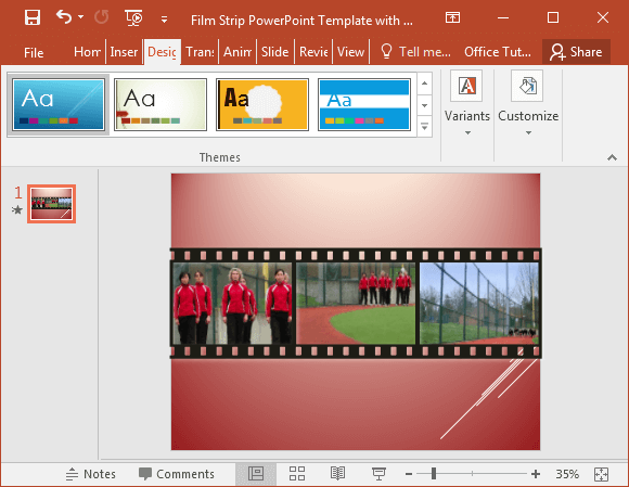 Filmstrip video slide - FPPT