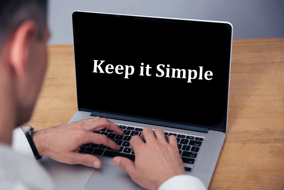 Keep it simple rule for presentations