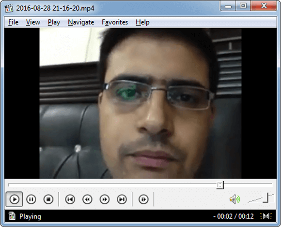 Playback Skype video call recordings