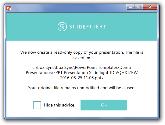 Share slides with SlideFlight