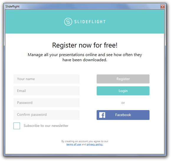 Sign up for SlideFlight