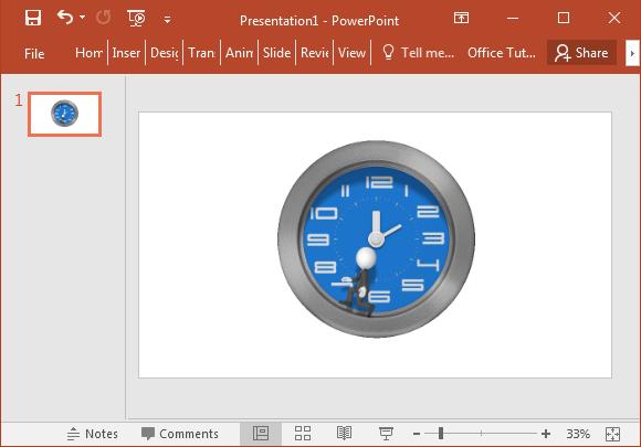Businessman clock animation
