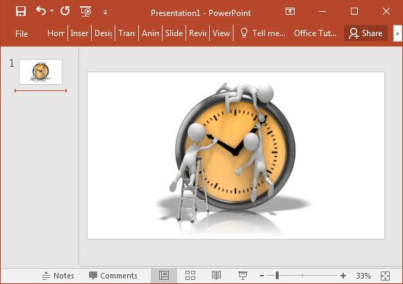 Changing the clock clipart