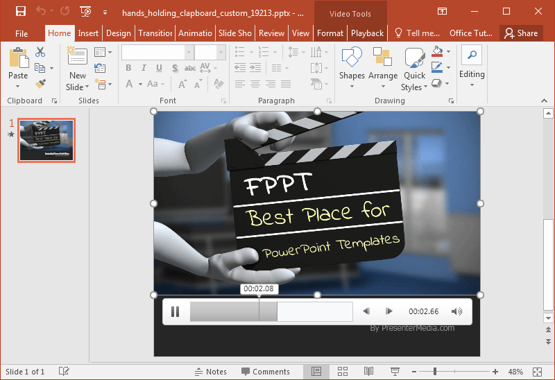 Animated Clapboard PowerPoint Templates