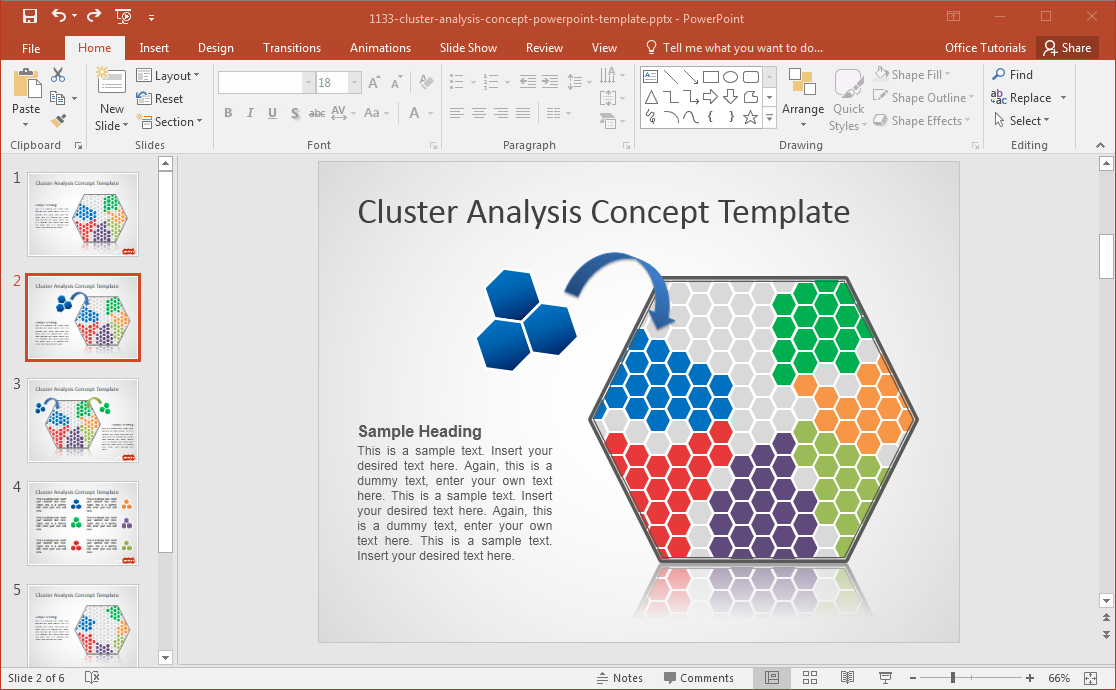 Free Cluster Analysis PowerPoint Template