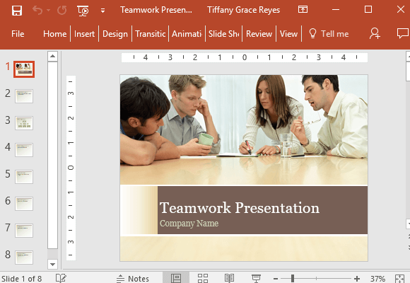 Elegant-and-beautiful-teamwork-presentation-template