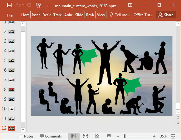 Silhouette art for PowerPoint