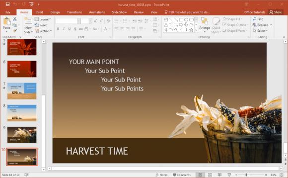 Maize Wallpaper For Presentation: Corn-powerpoint-background