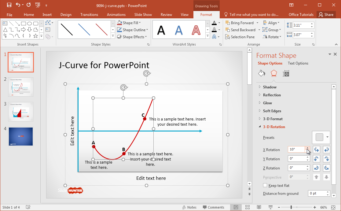 Free J Curve Powerpoint Template