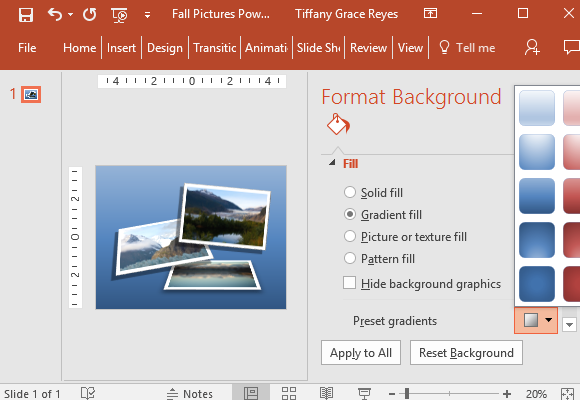 format-background-to-personalize-the-slide