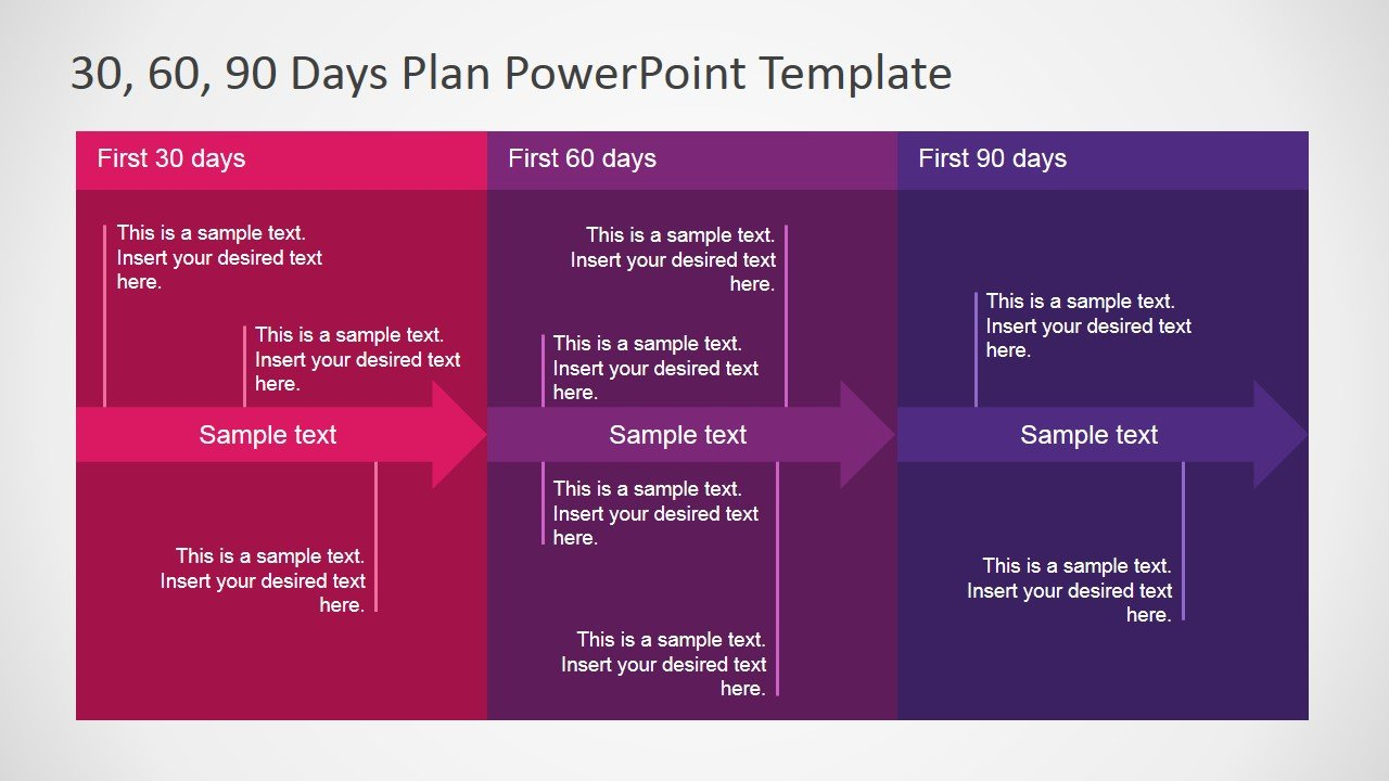 Free 30 60 90 day plan powerpoint template download a pre designed 30 60 90 day plan template toneelgroepblik Images