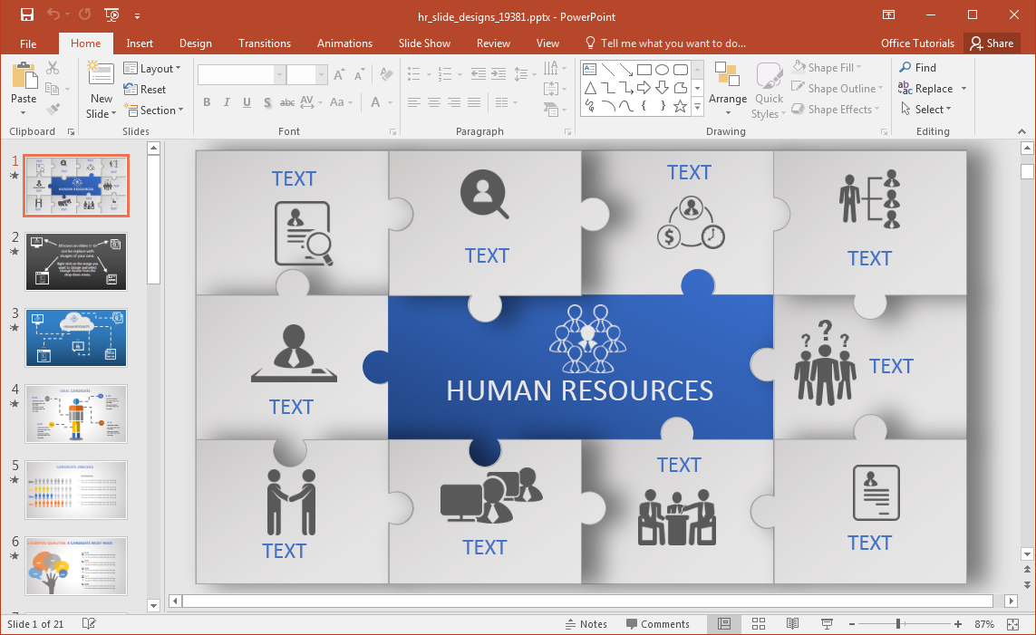 animated hr powerpoint template, Modern powerpoint