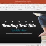 Animated reading powerpoint template toneelgroepblik Images