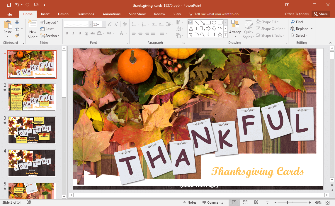 Thanksgiving powerpoint template animated thanksgiving powerpoint template kristyandbryce Choice Image