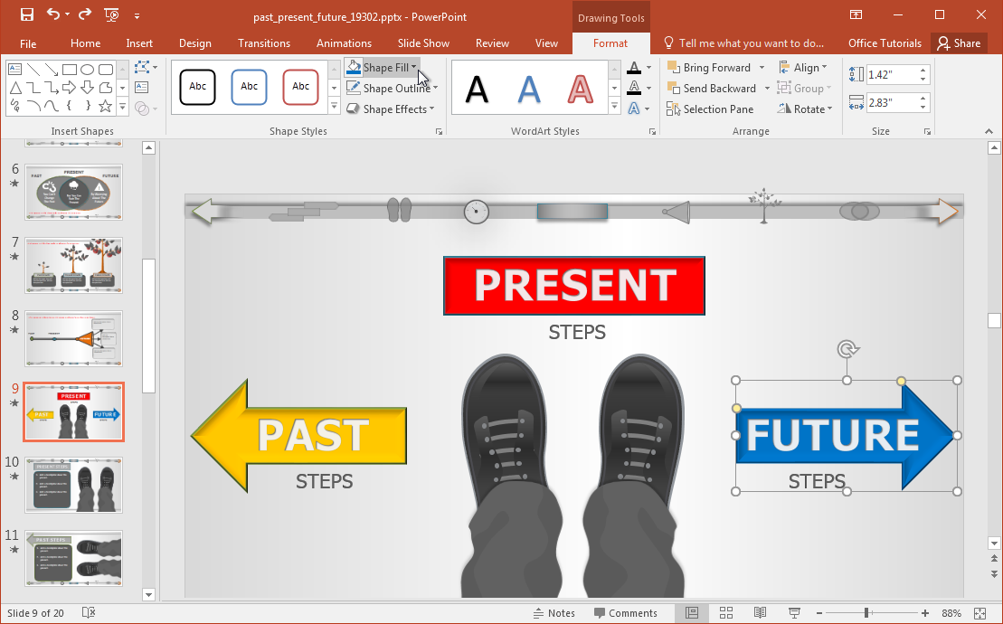 past present future powerpoint presentation Arial calibri wingdings arial black office theme 1_office theme 2_office theme powerpoint presentation tense shift  past/present tenses with future.