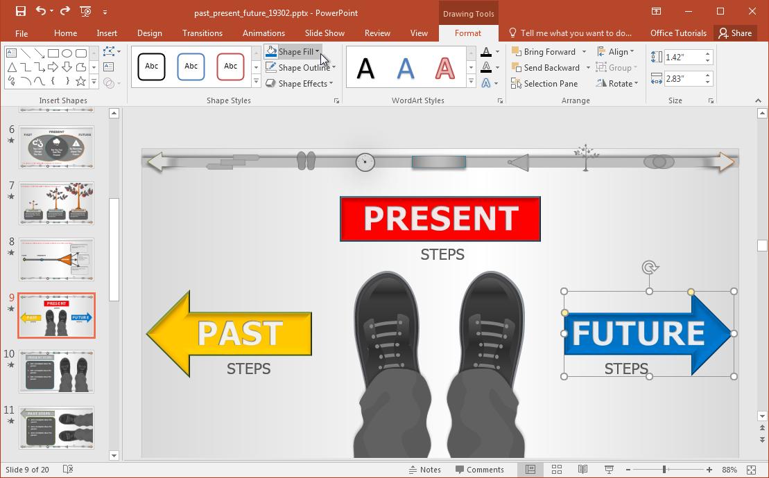 Customize Past Present Future Slide