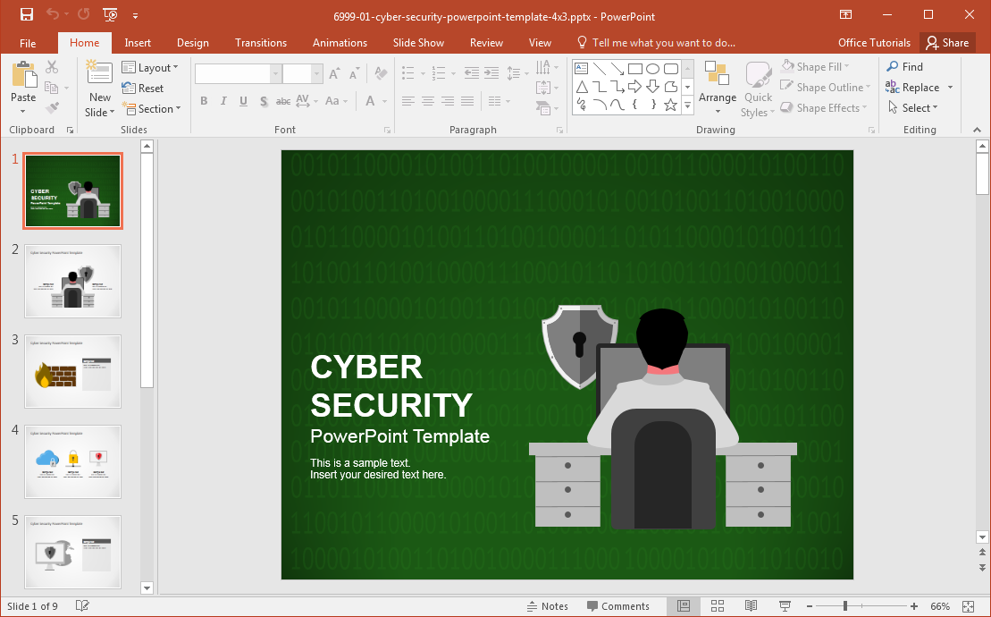 Best cyber security backgrounds for presentations cyber security powerpoint template toneelgroepblik Images