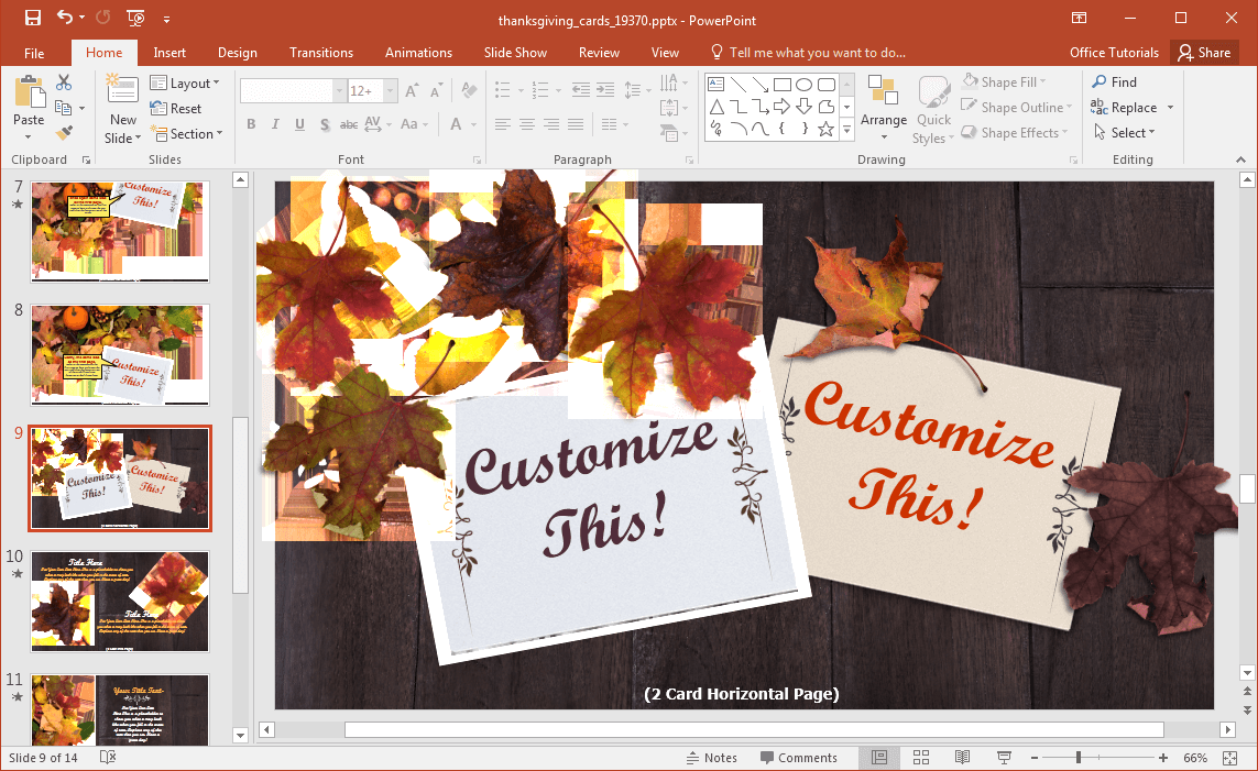 fall-presentation-template