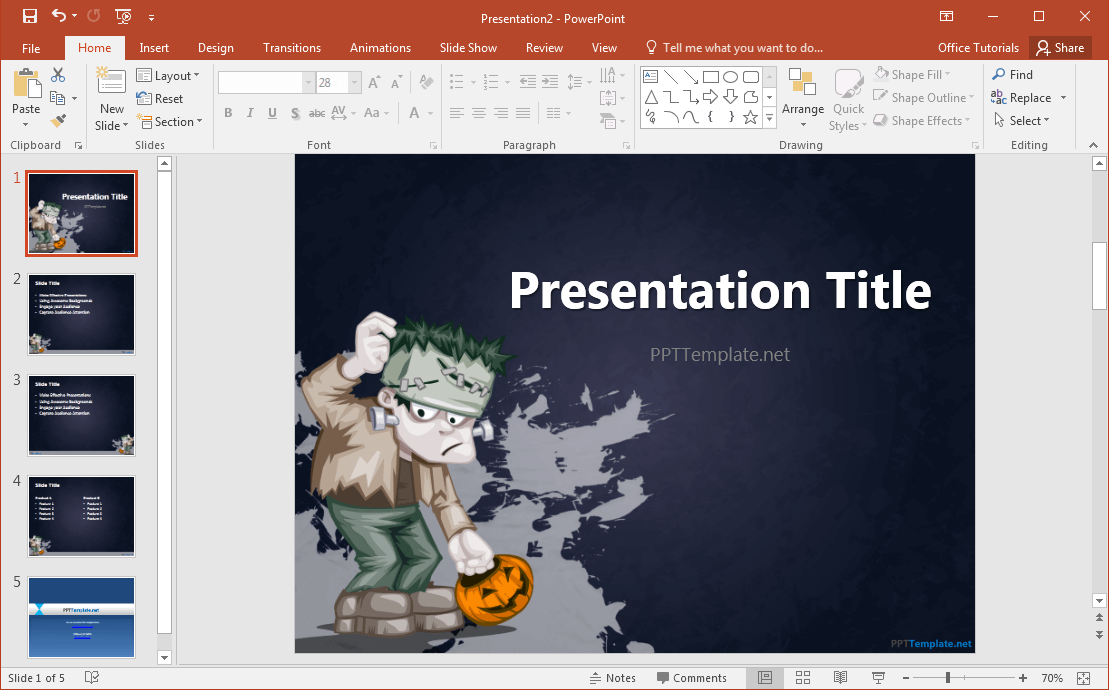 free-frankenstein-powerpoint-template