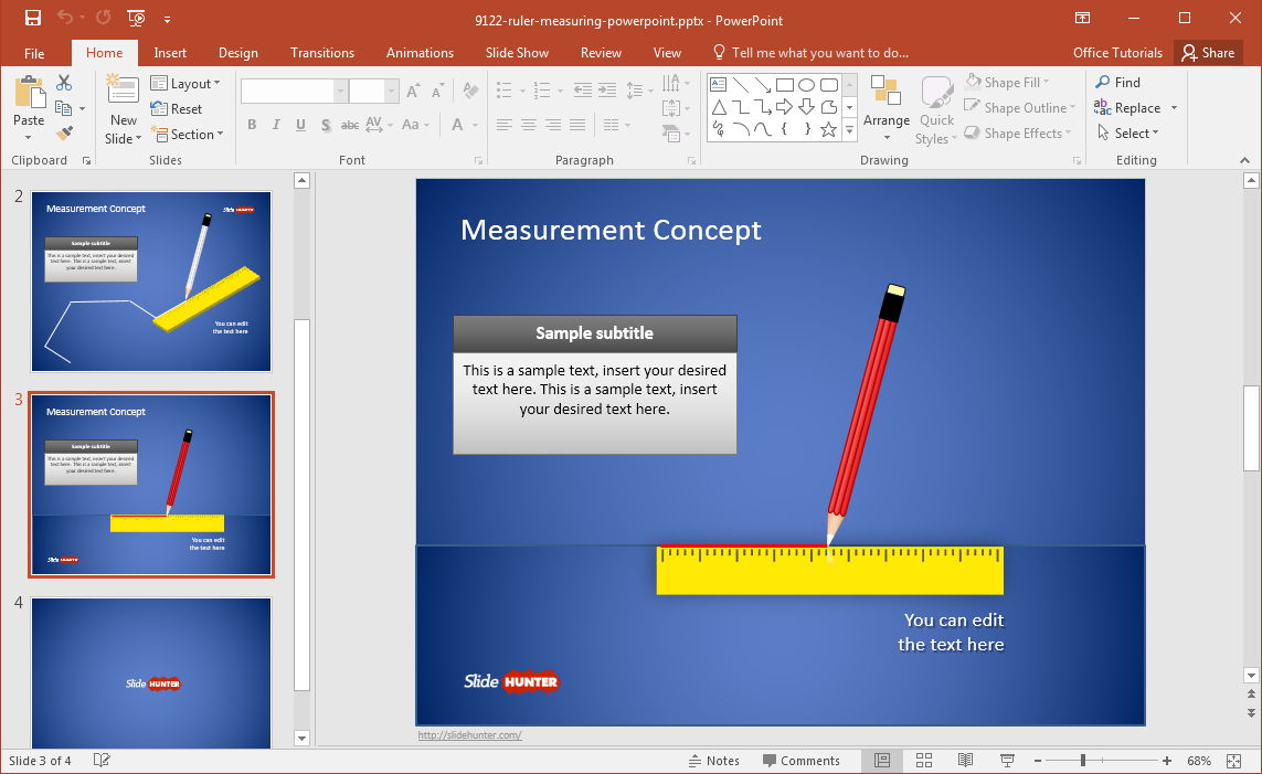 free-measurement-template-for-powerpoint