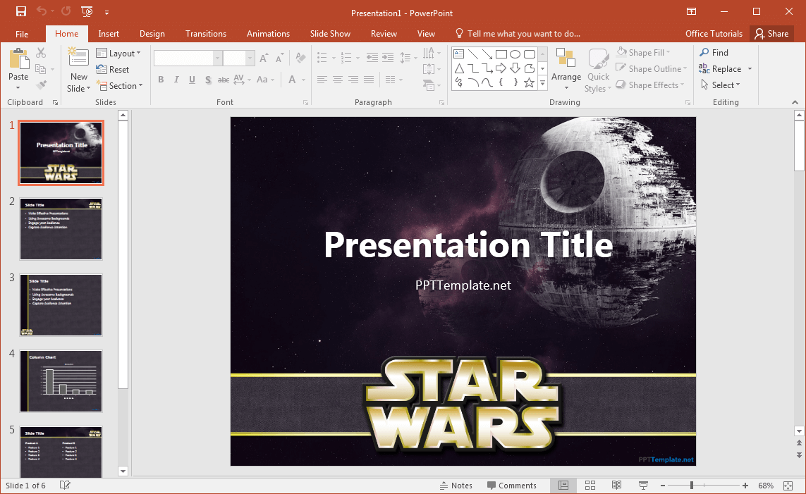 Free Star Wars Powerpoint Template