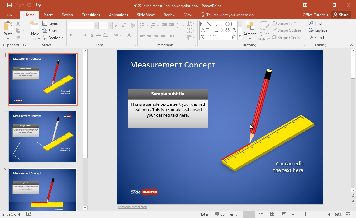free geometry powerpoint template