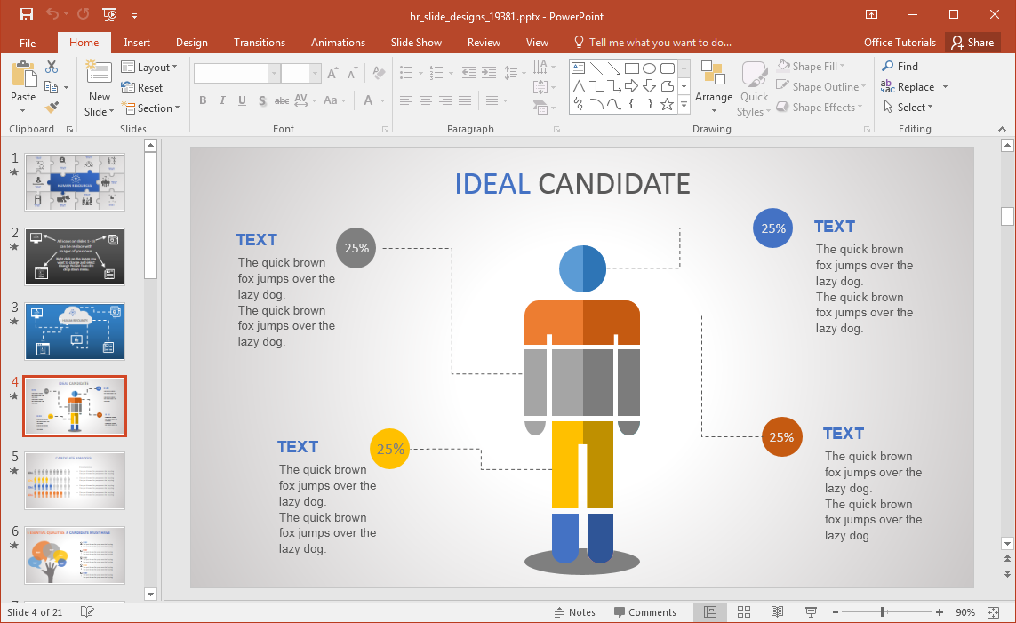 Animated hr powerpoint template hr recruitment slide toneelgroepblik Images