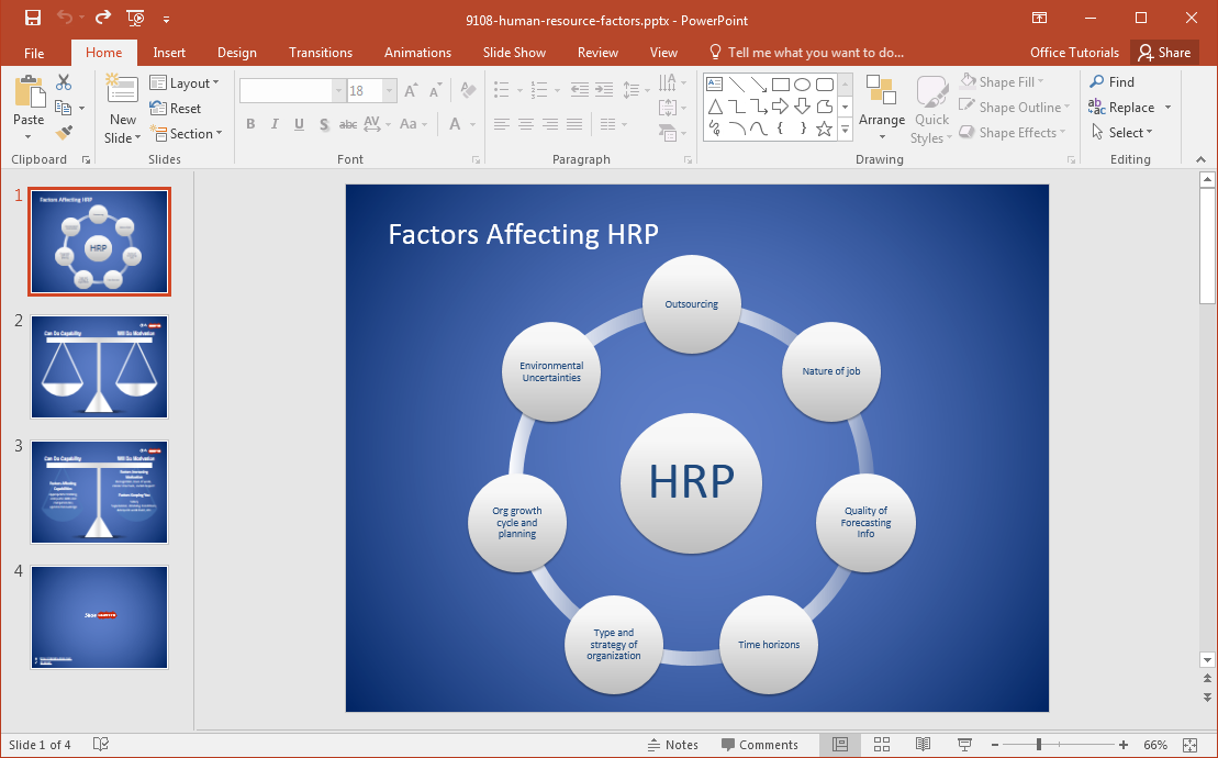 free human resource factors powerpoint template