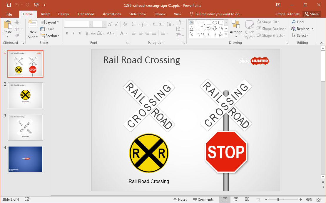 Free railroad crossing sign powerpoint template railroad sign powerpoint template toneelgroepblik Image collections
