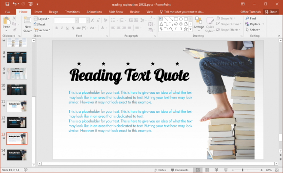 Reading powerpoint template with book stack illustrations fppt inshare toneelgroepblik Choice Image
