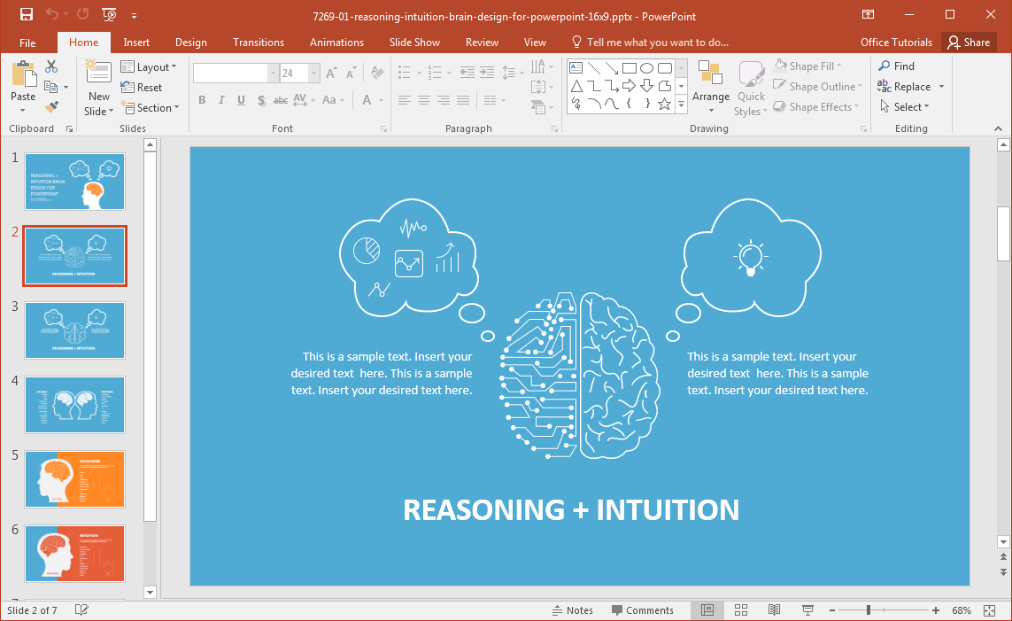 reasoning-intuition-brain-design-for-powerpoint
