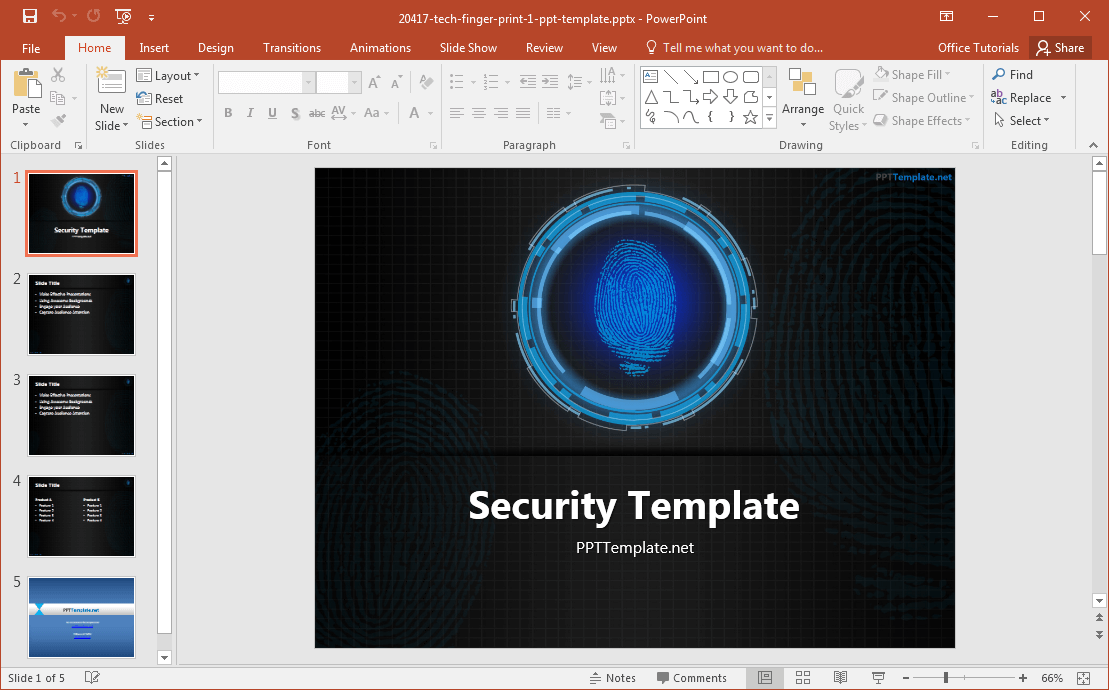 tech-finger-print-template-for-powerpoint