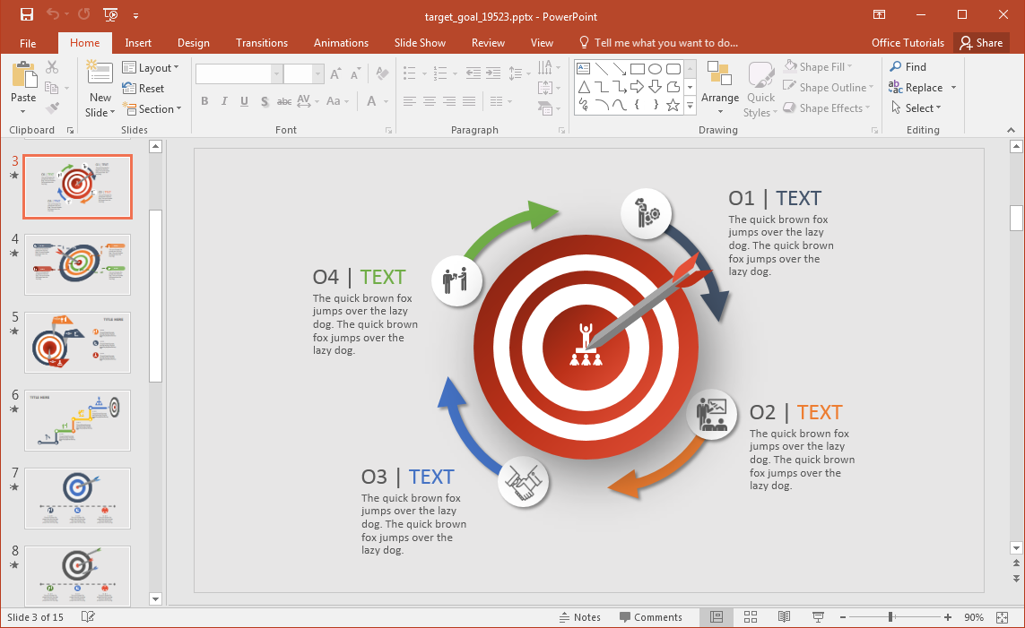 Animated target goal powerpoint template fppt toneelgroepblik Images