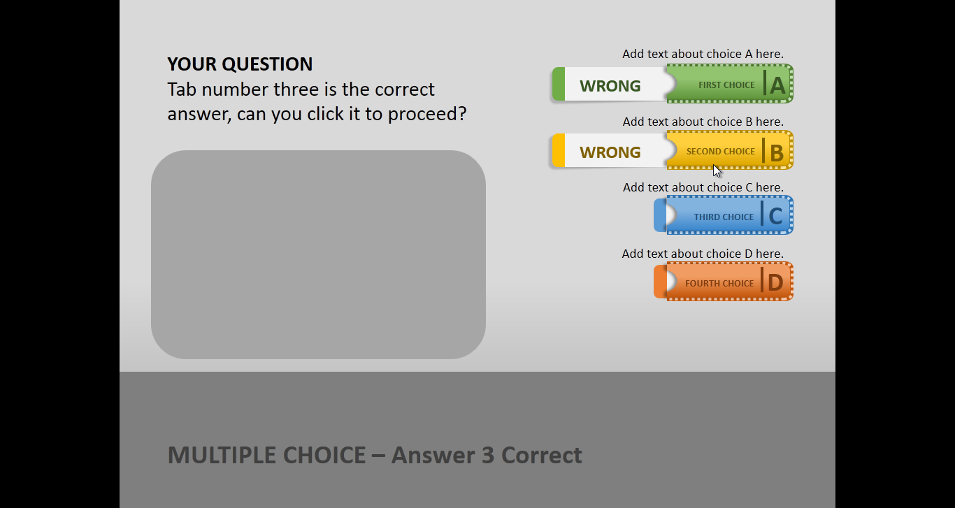 Create a quiz in powerpoint with quiz tabs powerpoint template for Template for multiple choice questions