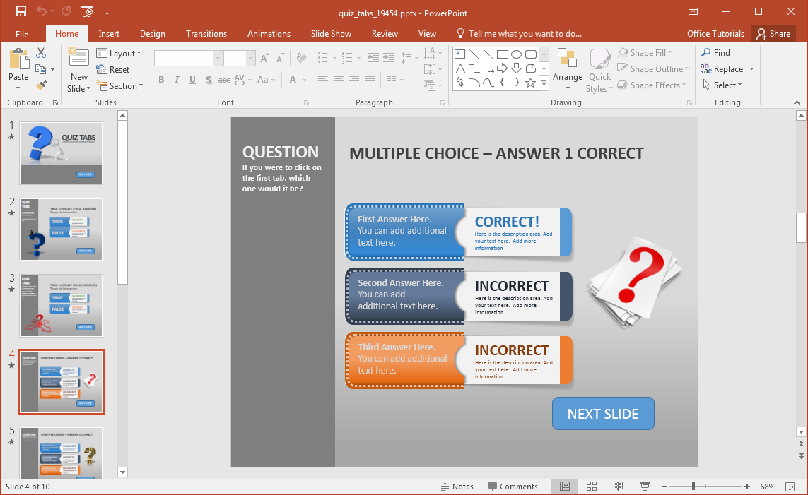 Create a quiz in powerpoint with quiz tabs powerpoint template create a quiz in powerpoint toneelgroepblik Image collections