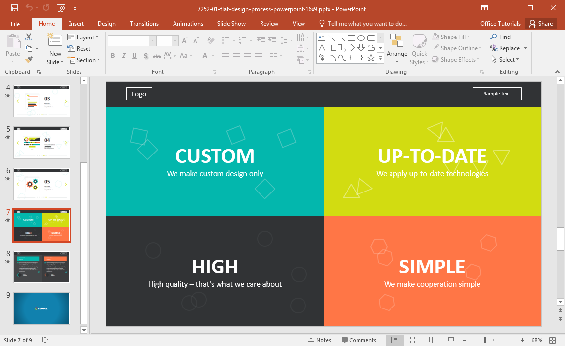 powerpoint template web design image collections - powerpoint, Modern powerpoint