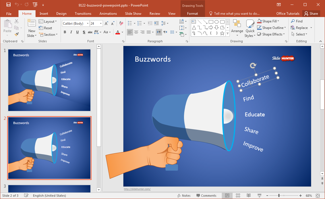 free-buzzword-powerpoint-template