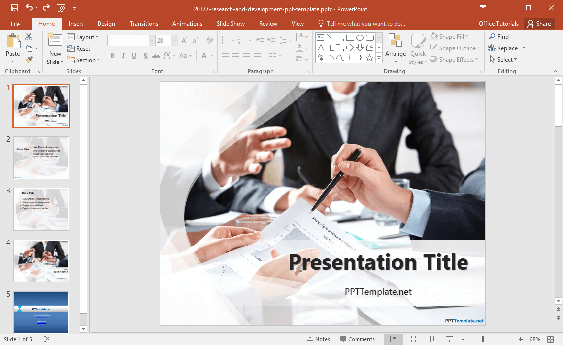 free research and development powerpoint template