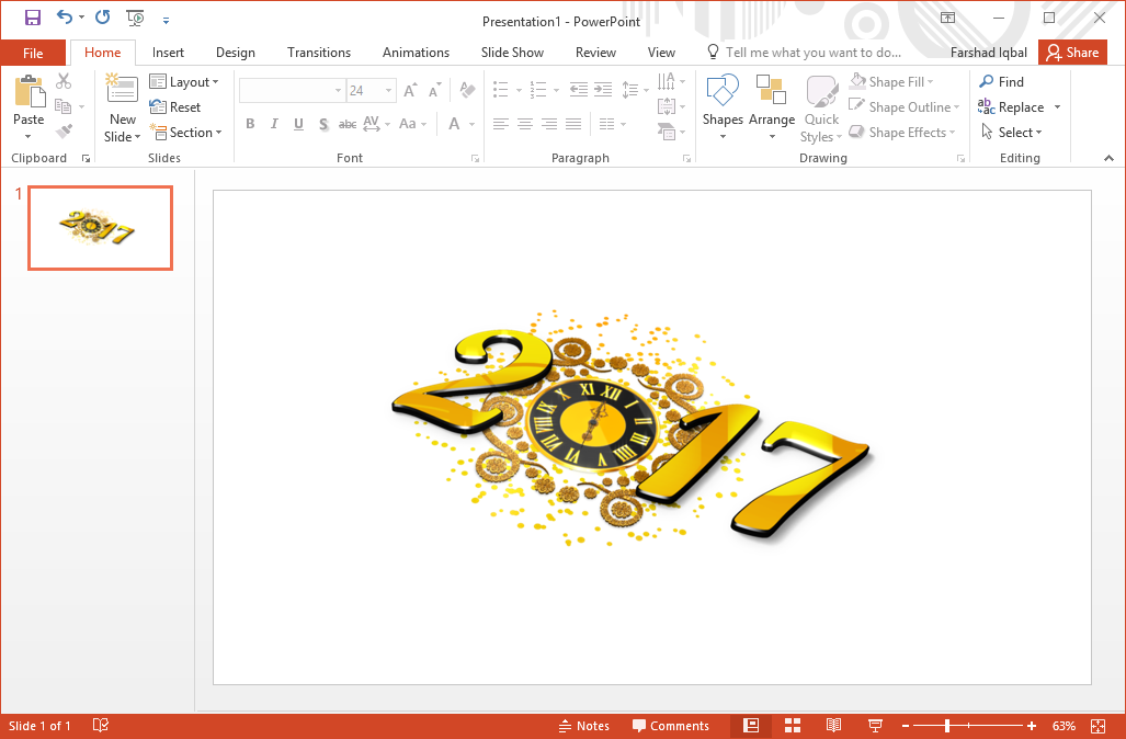 best 2017 new year clipart for powerpoint