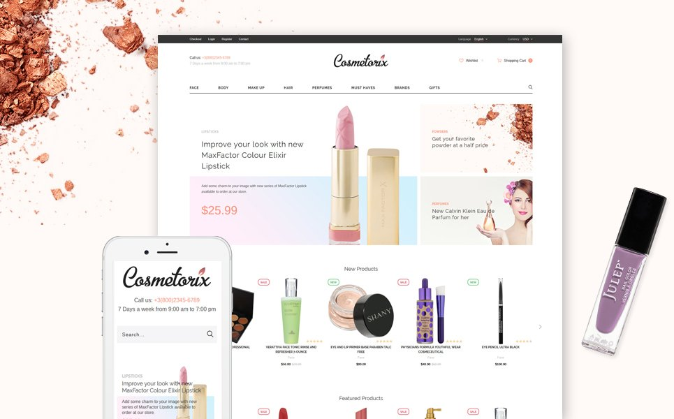 15 best fashionable opencart themes to please refined tastes cosmetics store opencart template toneelgroepblik Images
