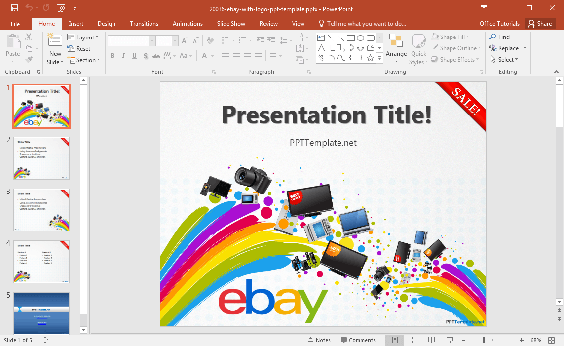 free ebay powerpoint template, Presentation templates