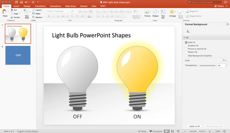 Free Light Bulb Powerpoint Shapes