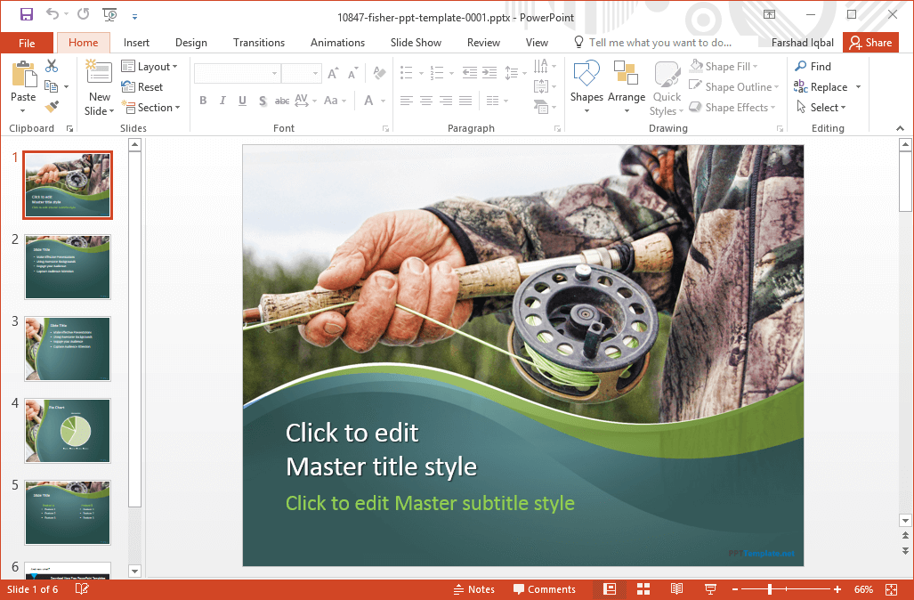 Free going fishing powerpoint template the template has five sample slides which can be further customized by adding your own content as well as by changing the default layouts via the layouts toneelgroepblik Image collections