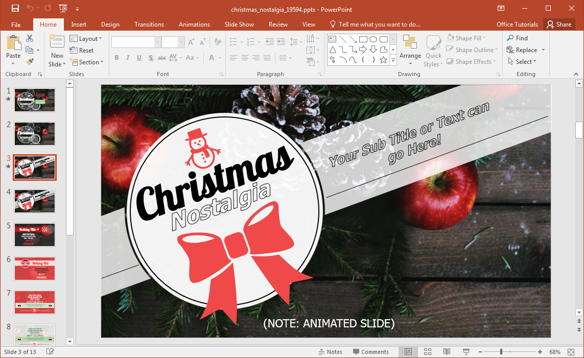 nostalgic-christmas-powerpoint-slides