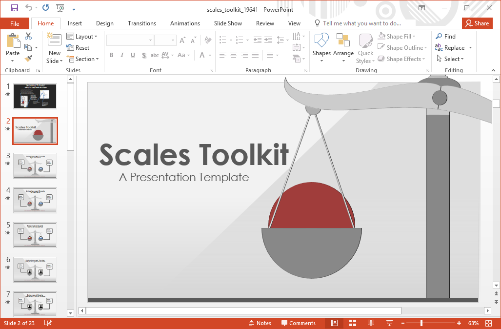 Animated scales powerpoint template scales powerpoint template toneelgroepblik Choice Image