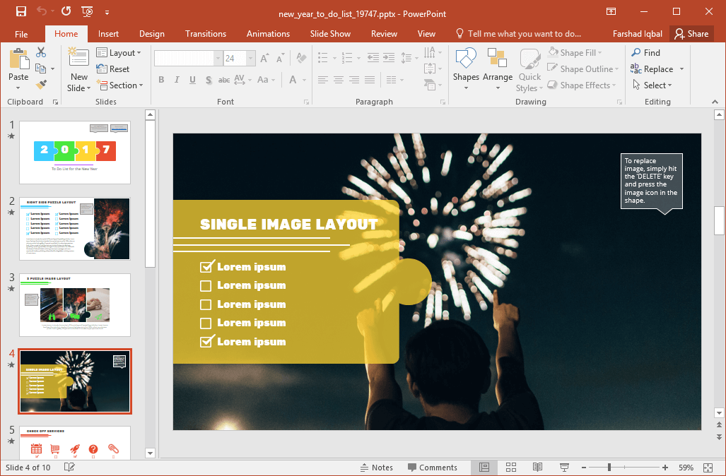 Animated new year to do list powerpoint template the sample images within slides can be replaced or removed anytime with the utility to fashion each part of your slide by making use of the editability of toneelgroepblik Images
