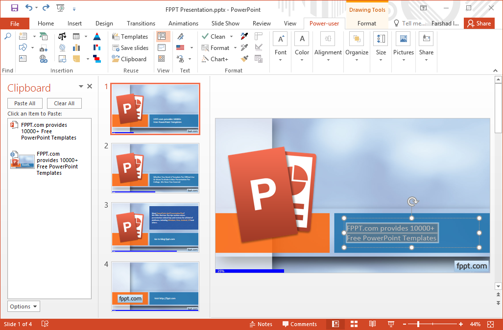 Make powerpoint more powerful with power user add in the reuse menu also offers a clipboard option that can help you fetch content from your clipart history from up to 24 items toneelgroepblik Gallery