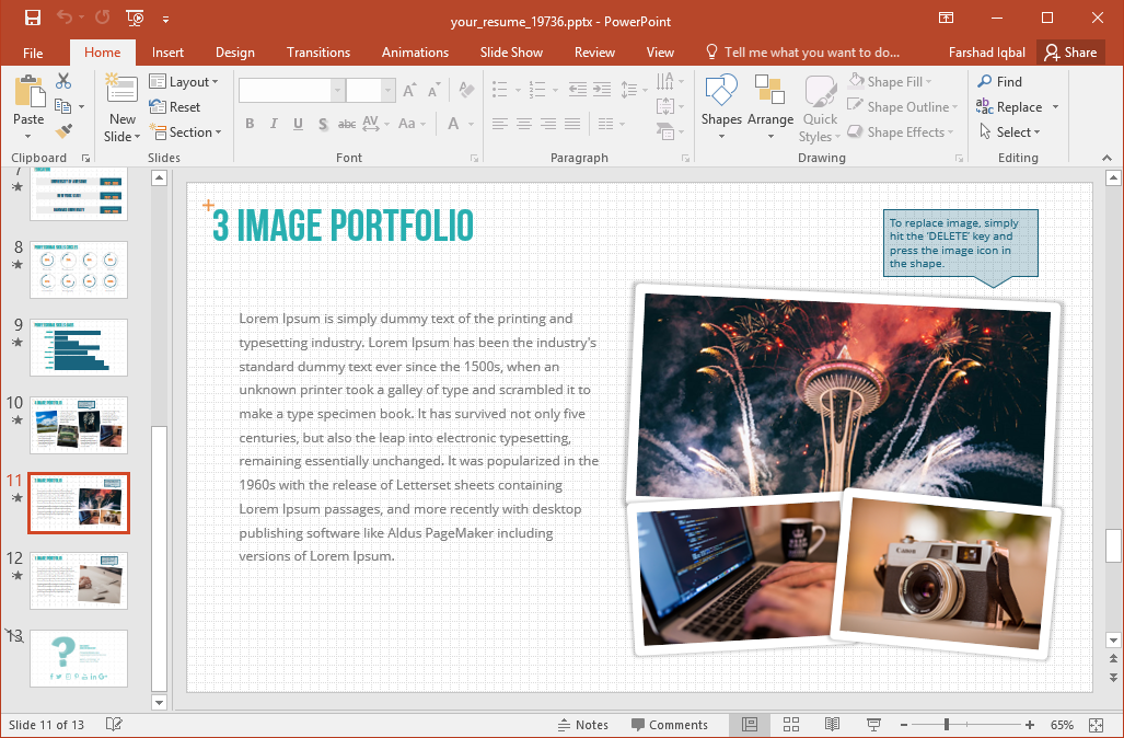 your resume animated powerpoint template