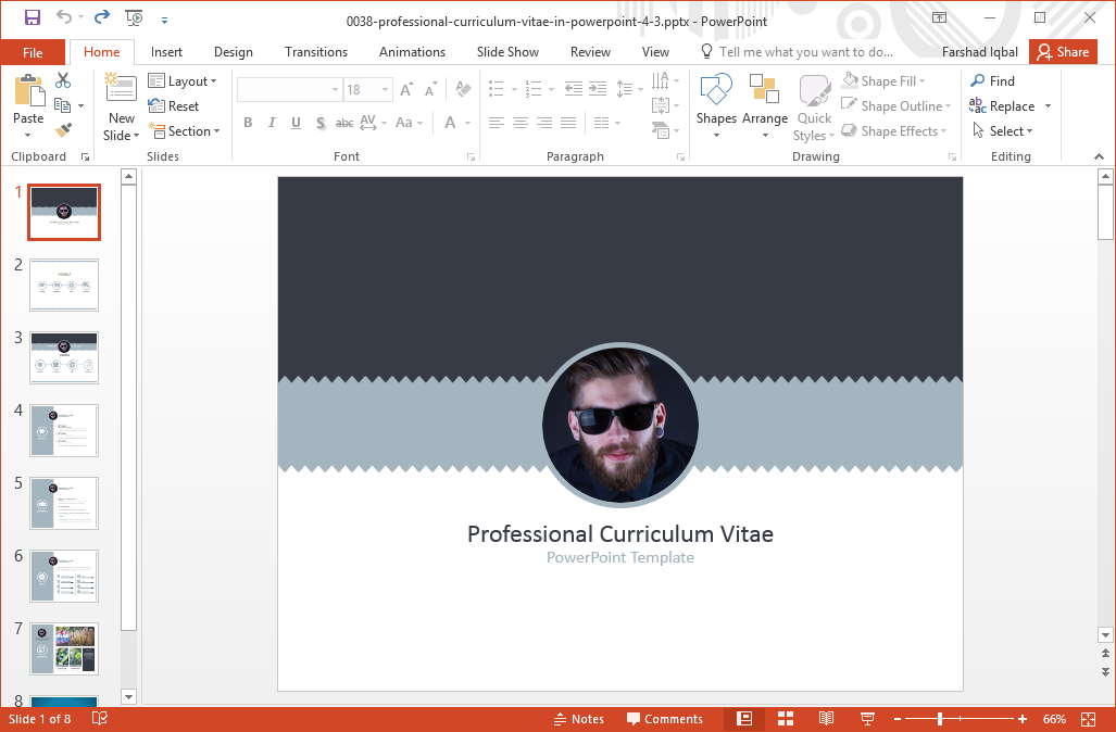 resume, Modern powerpoint