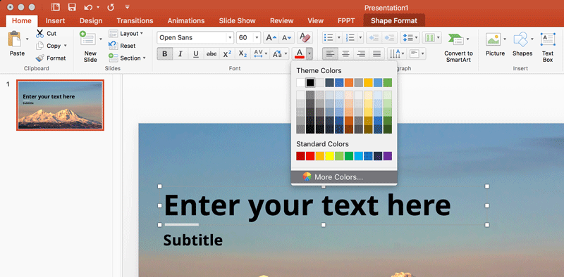 Working with RGB Colors in PowerPoint for Mac
